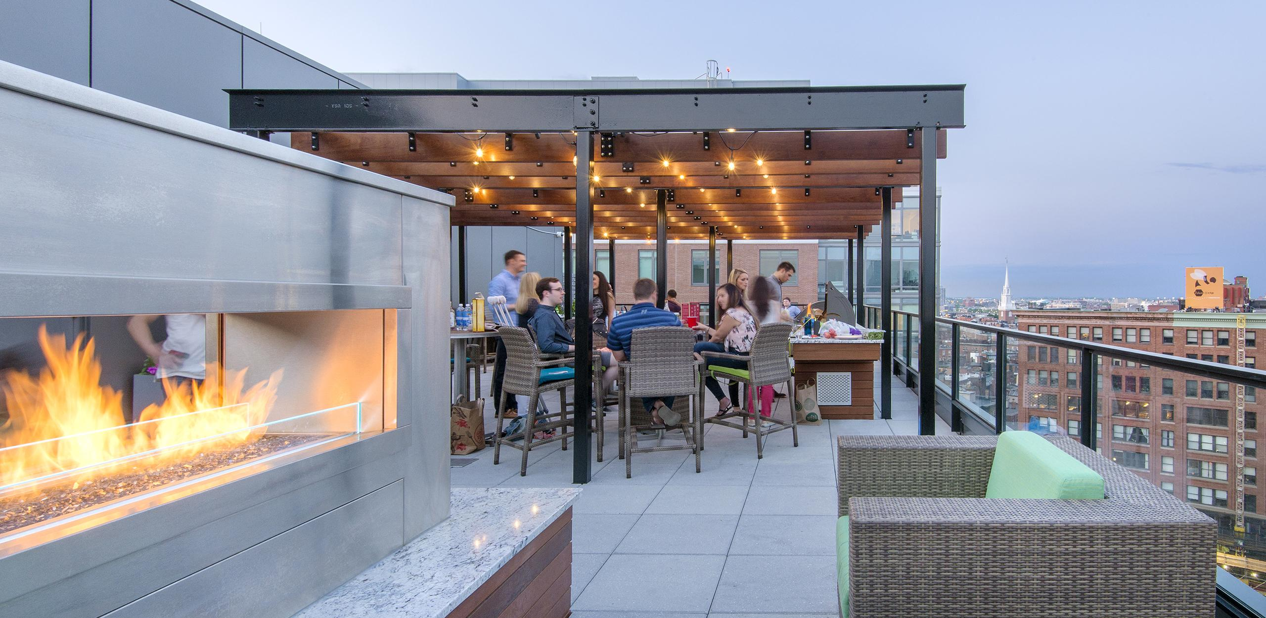 Roof deck renovation for a luxury apartment community in Boston, MA