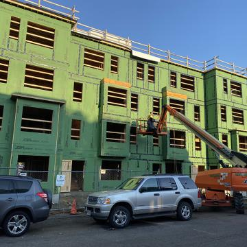 Exterior view of construction in progress