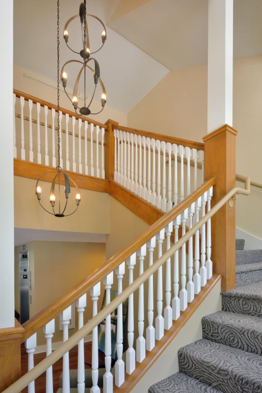 Interior wraparound staircase