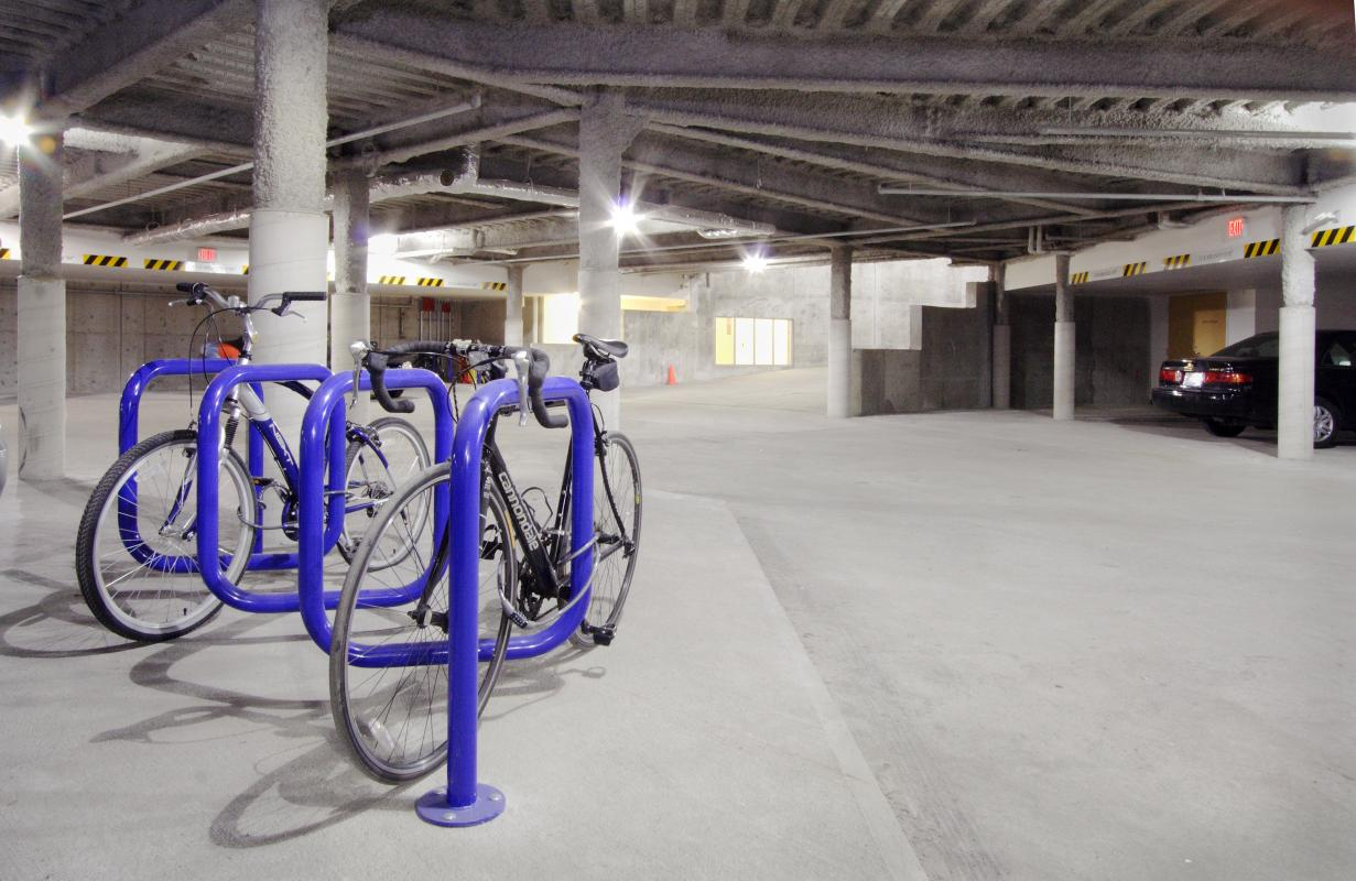 Garage with bike storage