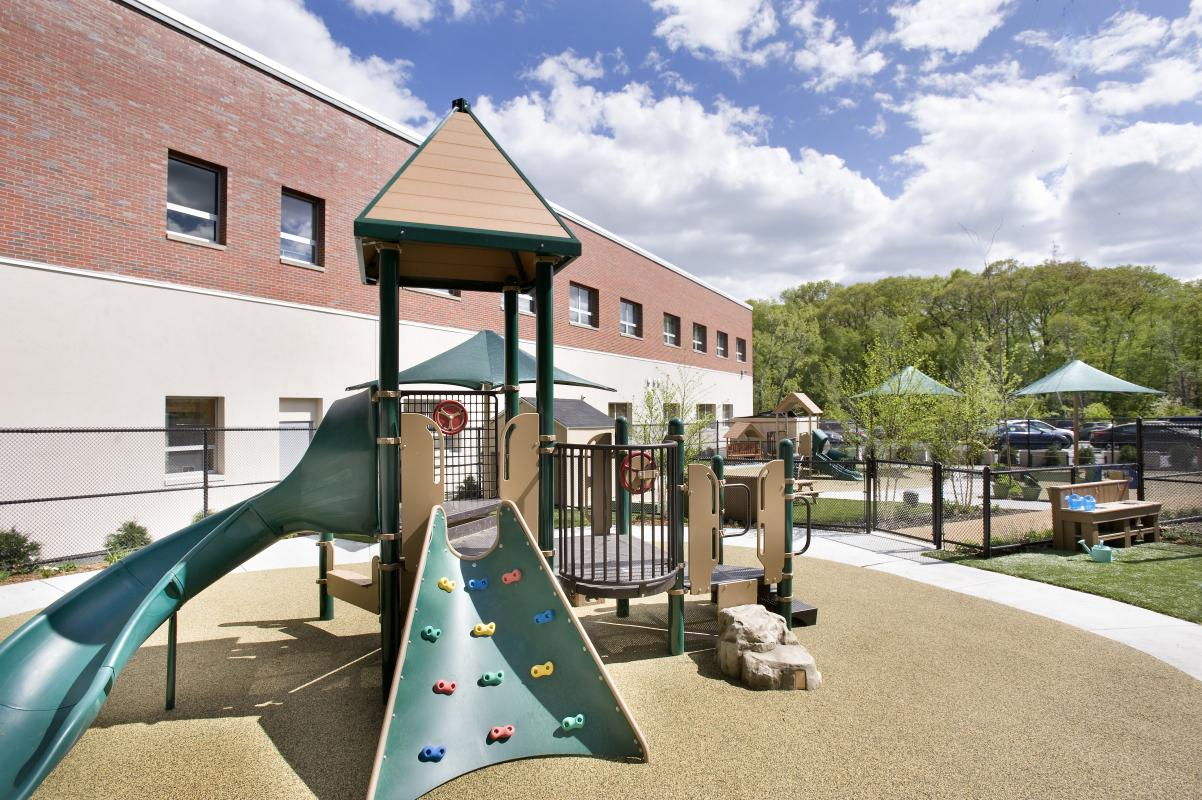Playground, slide tower