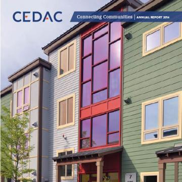 CEDAC 2014 Annual Report cover, Saint Polycarp Village Apartments, Phase 3