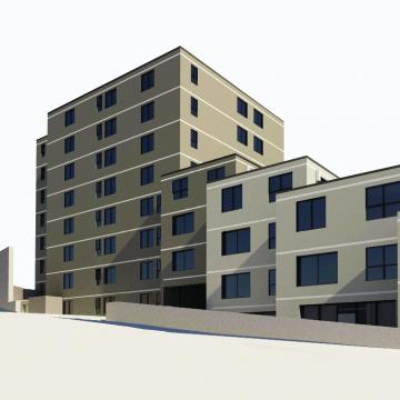 Exterior rendering of building